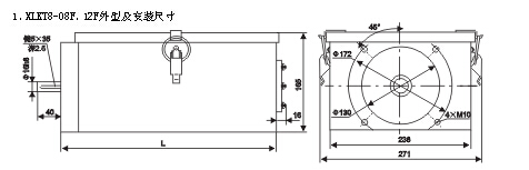 LK23系列主令控制器外形及安装尺寸